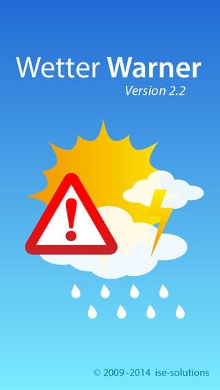 Unwetterwarnung mit Wetter Warner