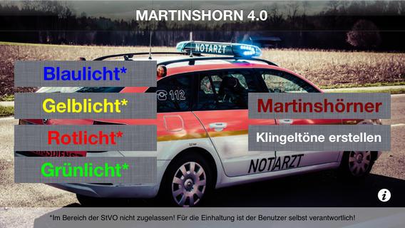 Martinshorn App