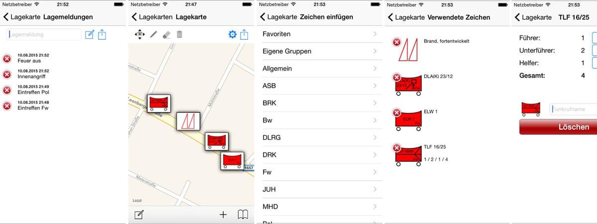Die mobile Lagekarte App