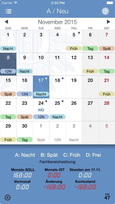 Schichtplan App Polizei Dienstplan App