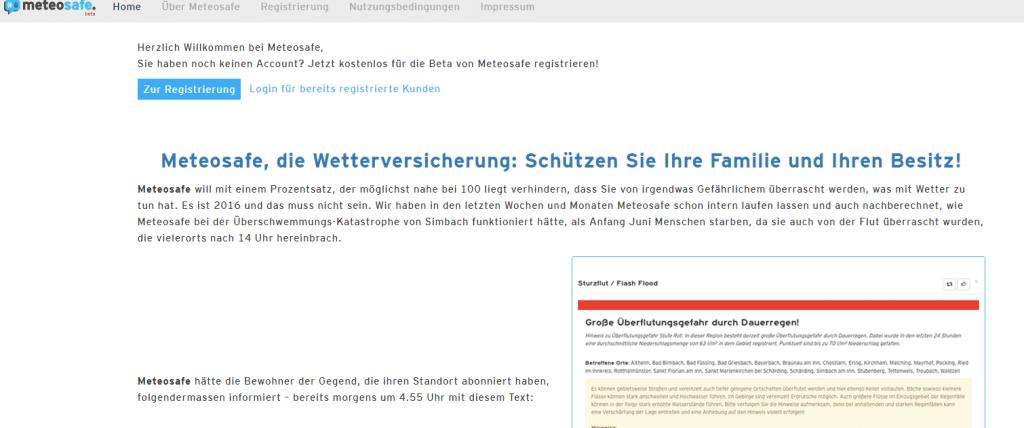 Anmeldung meteosafe.com